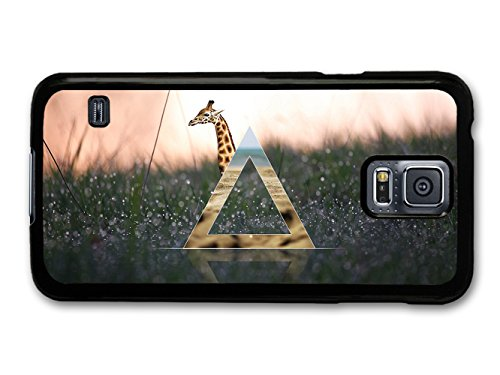 Hipster Triangle in Funny Cute Giraffe Artwork Stylish coque pour Samsung Galaxy S5