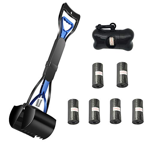 Focuser Pet Long Handle Pooper Scooper Set for Dogs, Poop Clamp Scoop with Bag Holder and 6 Poop Bags Dispense, Perfect for Small and Larger Dogs, Top Paw Jaws, Valuable Package for Pick Up Pets Waste from FOCUSER