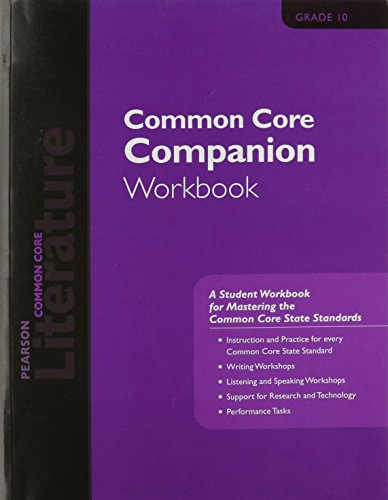PEARSON LITERATURE 2015 COMMON CORE COMPANION WORKBOOK GRADE 10
