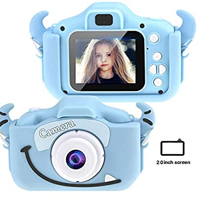 Tocosy Kids Digital Camera HD 12MP Mini Selfie Little Child Camcorder Video Record Photography Toys Birthday Gifts for Girls Boys Toddlers Age 3-15 (Dual Camera, Horn Blue): Camera & Photo