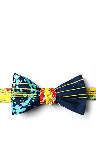 Higgs Boson Navy Blue Microfiber Bow Tie