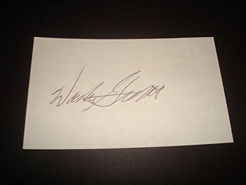 Walker Gillette Giants Richmond Signed 3X5 Index Card Authentic NFL Autograph