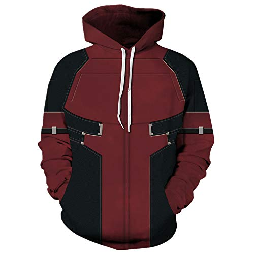 Tsyllyp Women Men Superhero Hoodie 3D Deadpool Halloween for sale  Delivered anywhere in Canada