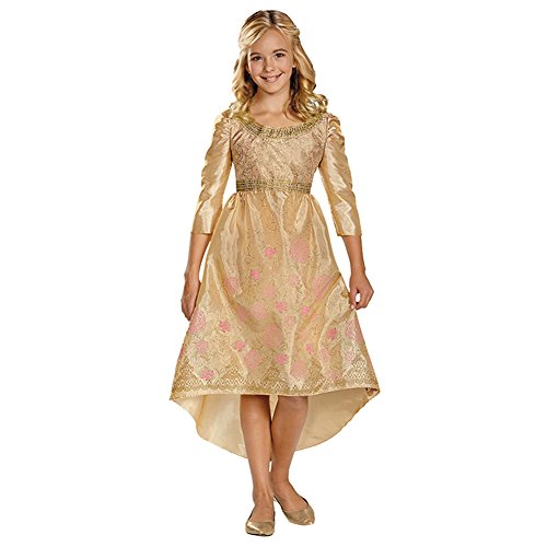Maleficent Girls Costumes (Disney Maleficent Movie Aurora Coronation Gown Girls Classic Costume, Large/10-12)