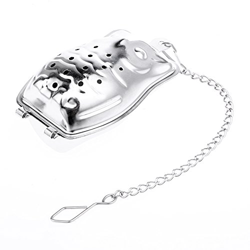 Funnytoday365 Creative Stainless Steel Owl Shaped Tea Strainer Herbal Spice Infuser Loose Leaf Infuser Tea Filter Herbal Spice Strainer by FunnyToday365 (Image #3)