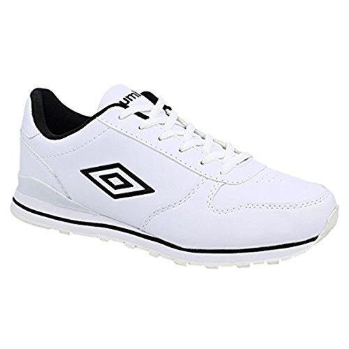 Umbro - Zapatillas para hombre blanco Blanco/Negro 40