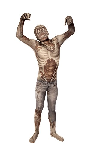 [Zombie Kids Monster Morphsuit Costume - size Small 3'1-3'6 (94cm-107 cm)] (Horror Costumes For Kids)