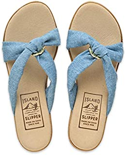 product image for Island Slipper - Solid Fabric Slide Platform with Ring (P367)