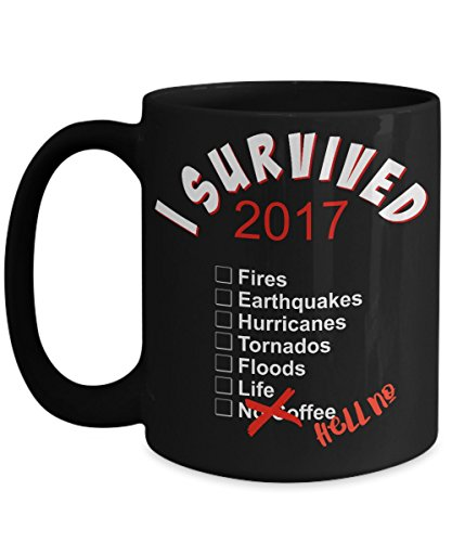 Witch Mini Glitter Top Hat (I Survived 2017 Mug Irma Harvey Hurricanes Tornadoes but No Coffee - Hell No Black Ceramic Coffee Cup 11 or 15 Oz)