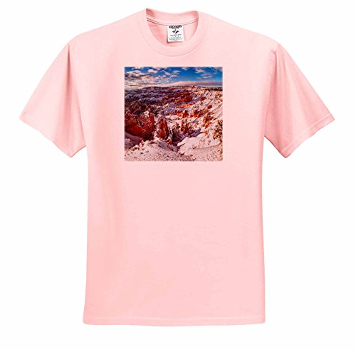 Bryce Canyon Amphitheater (Danita Delimont - Bryce Canyon - Utah, Bryce Canyon National Park, Winter, Bryce Canyon Amphitheater - T-Shirts - Adult Light-Pink-T-Shirt 2XL (ts_251486_38))