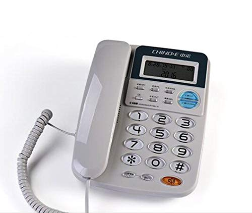 Gray Cordless Telephone - Dual Interface Caller ID Telephone Home Fixed Telephone Office Landline Corded Fixed Telephone,Gray
