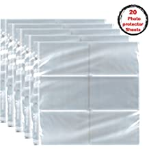 Kedudes 20 Sheets for 4x6 photos, High clarity plastic photo protectors For 12 x 12 Album - High clarity plastic photo protectors perfect solution for photo storage and viewing