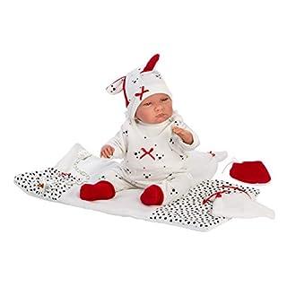 "Llorens 15.7"" Crying Soft Body Baby Doll Luke & Swaddle Blanket, Blue"