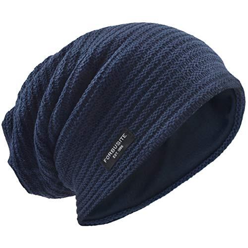 Beanie Knit Crochet Rasta Cap for Summer Winter (Navy) ()