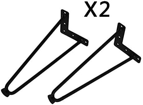 4 Paquete en forma de U patas de la mesa de hierro forjado mesa de ...