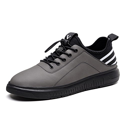 Men's Leather Originals Gray Shoes Two Layer Round Casual arddAqx