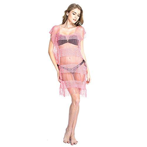 Vestido De La Playa Del Color Fluorescente Atractivo Pink
