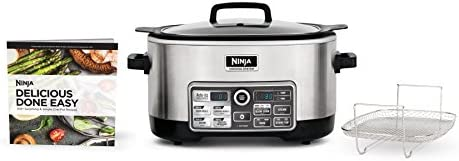 Ninja Auto-iQ Multi Slow Cooker with 80-Pre-Programmed Auto-iQ Recipes for Searing, Slow Cooking, Baking and Steaming with 6-Quart Nonstick Pot CS960