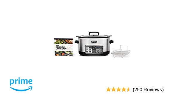 Ninja Auto-iQ Multi/Slow Cooker with 80-Pre-Programmed Auto-iQ Recipes for  Searing, Slow Cooking, Baking and Steaming with 6-Quart Nonstick Pot