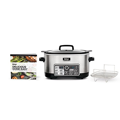 Ninja Auto-iQ Multi/Slow Cooker with 80-Pre-Programmed Auto-iQ Recipes for Searing, Slow Cooking, Baking and Steaming with 6-Quart Nonstick Pot (CS960) (Best Small Slow Cooker)