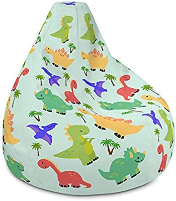 Enjoyable Amazon Com Dinosaur Bean Bag Chair Stylish And Modern Theyellowbook Wood Chair Design Ideas Theyellowbookinfo