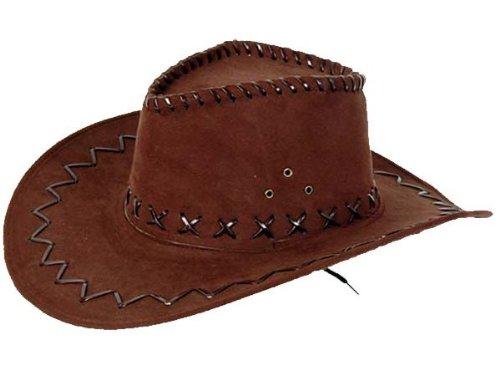 Cowboyhut braun Westernhut Texas Australien Hut für Erwachsene, Farbe:braun 05