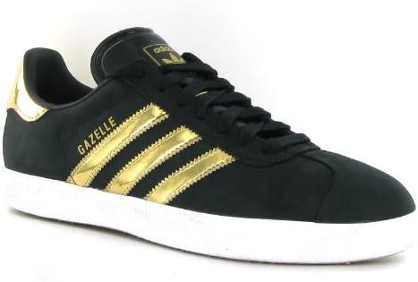 adidas Gazelle 2 Black Gold Suede Mens Trainers Size 9: Amazon.co ...