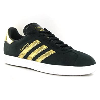adidas gazelle black and gold