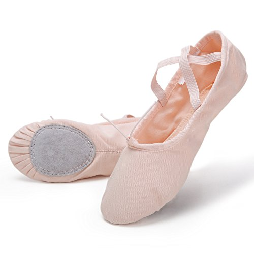 Swan Pro High-Count Cotton Canvas Ballet Dance Slippers (Ballet Pink, 9M T US) -