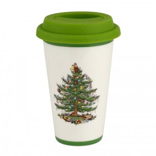 Spode China Christmas Tree (Spode Christmas Tree Travel Mug with Silicone Lid)