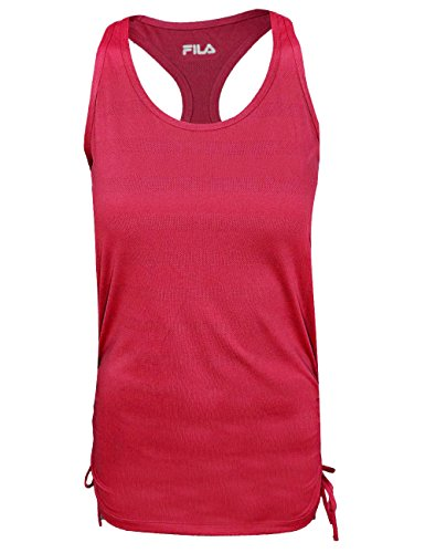 Fila Women's All Tied up Tank Top Shirt, Bright Rose, (All Tied Up Top)