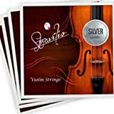 Full Set of Violin Strings Size 4/4 & 3/4 - G D A & E (Silver)