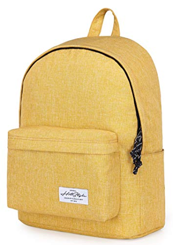 hotstyle CANDER Classic School Backpack College Bookbag, Goldenrod