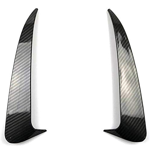 TOOGOO for Benz C Class W205 C43 C63 Amg Carbon Fiber Look Rear Bumper Air Vent Cover 2014-2019 2Pcs