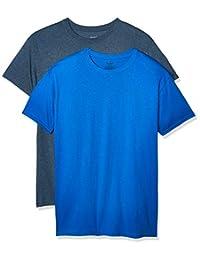 Hanes Playera Cuello Redondo con Doble Tecnología paq de 2 Piezas Camiseta para Hombre