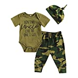Newborn Infant Baby Boy Girl Camouflage Clothes