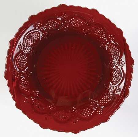 Avon Cape Cod Collection 1876 Ruby Red Pattern Set/2 Dessert - Avon Glass