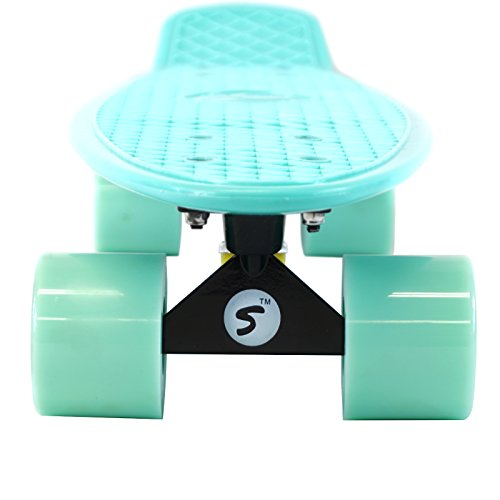 Scale Sports 22'' Skateboard Complete Pastel Street Retro Cruiser Classic Plastic Deck Mint by Scale Sports (Image #4)