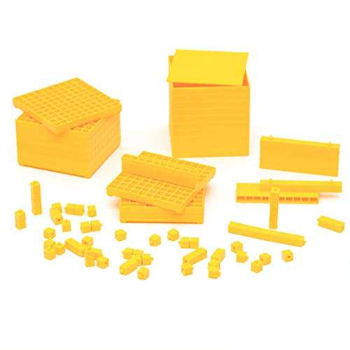 (Wumudidi Montessori Decimal Group Cube Sensory Teaching Tools, Children's Professional Edition Early Education Teaching Tools)