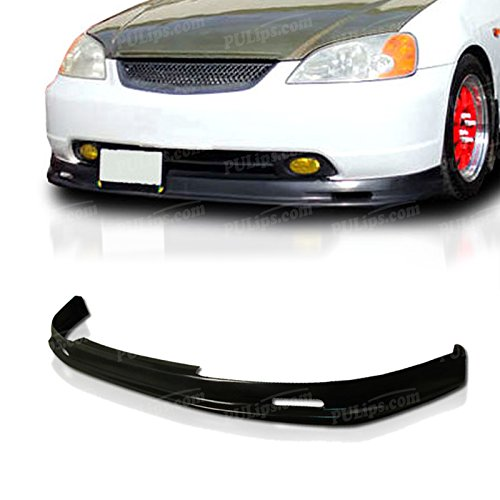 PULIps HDCV01MUFAD - M-Spec Style Front Bumper Lip For Honda Civic 2001-2003