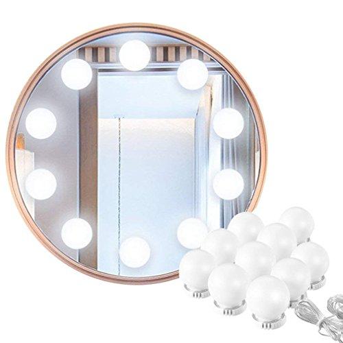 first2savvv Hollywood Make-up Vanity Mirror Light, 60 Leds 9.8Ft Baño Vanity Light Kit para DIY Cosmético Make Up Mirror