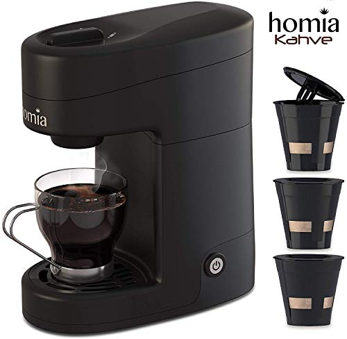 Coffee Maker Machine Single Serve - Electric Brewer for...