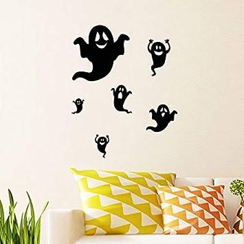 Halloween serie diavolo vetrata soggiorno camera da letto decorazione adesivi murali 2 set: Amazon.es: Bricolaje y herramientas