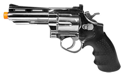 Semi Auto Pistol Air Silver (hfc hg-132 4 barrel gas revolver, silver airsoft gun(Airsoft Gun))