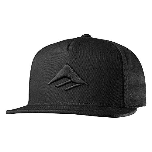 Emerica Men's Triangle Snapback Cap, Black, One -