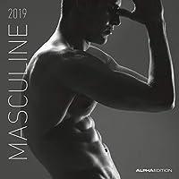 Masculine 2019 - Men -  Männer - Broschürenkalender (30 x 60 geöffnet) - schwarz-weiß - Erotikkalender