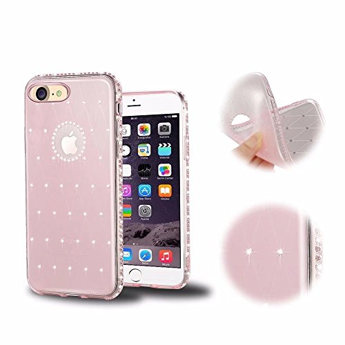 iPhone 6S Funda,MingKun Transparente Fundas para iPhone 6 / iPhone 6S 4.7 Pulgada Suave TPU Silicona Carcasa Bling Cover-4