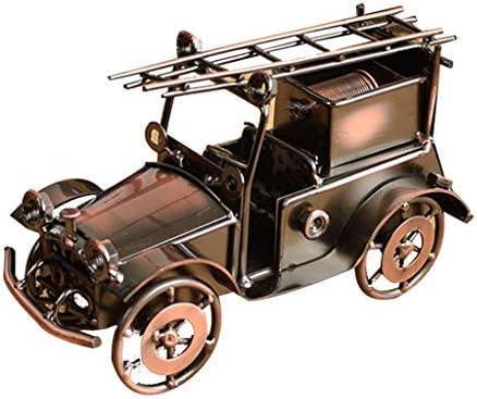 レトロ車モデル錬鉄クラシックカー装飾結婚式のリビングルームの小さな家具 (Color : Brass, Size : 19*8*12cm)