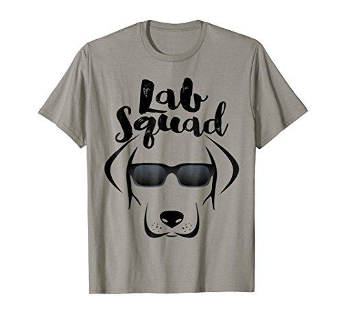 LABRADOR T SHIRT GIFT, Black Lab Yellow Lab Love Squad Shirt