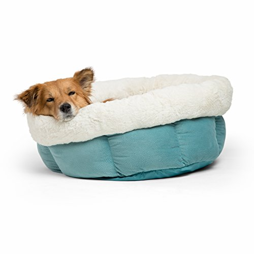 Cheap Best Friends by Sheri Jumbo Cuddle Cup – Cozy, Comfortable Cat and Dog House Bed – High-Walls for Improved Sleep, TidePool